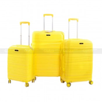 Lot de 3 valises jaune